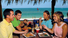 Family dining at local restaurant in Mexico Beach Florida